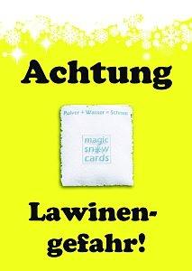 Achtung Lawinengefahr! - Magic Snow Card