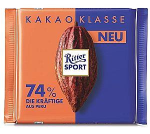 Ritter Sport Kakao Klasse 74% Die Kräftige aus Peru 100 g