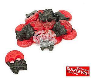 Bubs Himbeer-Lakritz Skulls zuckerfrei 2000 g