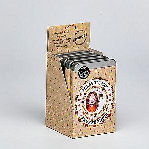 """Zuckerfreie Pfefferminz Pastillen Box """"Gratuliere - weiblich"""" 30 g"""