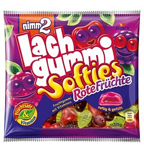 nimm2 Lachgummi Softies Rote Früchte 225 g