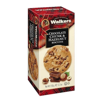 Walkers Chocolate Chunk & Hazelnut Biscuits 150 g