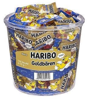 Haribo Gute Nacht-Goldbären Minibeutel in der 980 g Dose