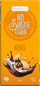 Minus Z Keks-Vollmilchschokolade ohne Zuckerzusatz 90 g