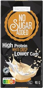 Frankonia High Protein White Crisp Schokolade ohne Zuckerzusatz 90 g