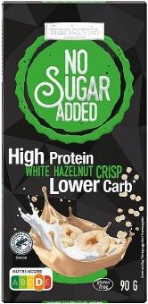 Frankonia High Protein White Hazelnut Crisp Schokolade ohne Zuckerzusatz 90 g