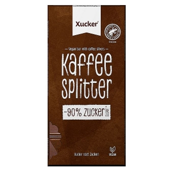 Xucker vegane Kaffeeplitter Schokolade 80 g
