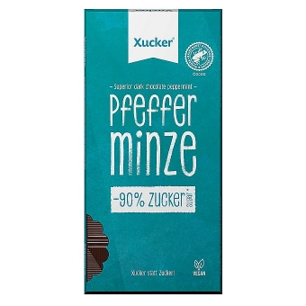 Xucker Edel-Bitterschokolade Pfefferminze 80 g