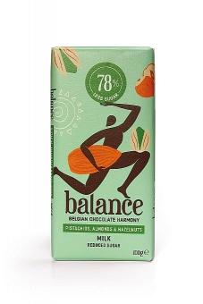 Balance Milk Pistachios, Almonds and Hazelnuts Chocolate 100 g