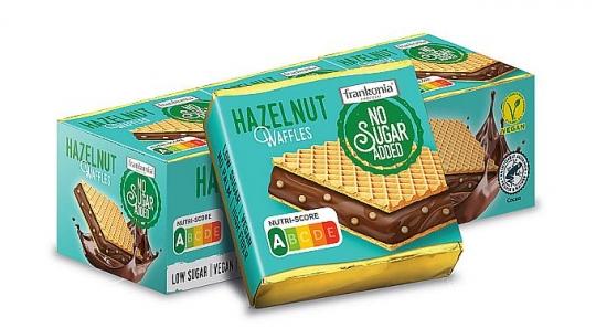 Frankonia No Sugar Added Hazelnut Waffles 175 g