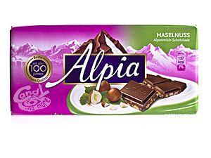 Alpia Haselnuss Alpenmilch-Schokolade 100 g