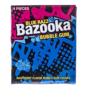 Bazooka Blue Razz Bubble Gum 33 g