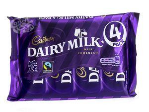 Cadbury Dairy Milk Schokolade 4er Pack 117 g