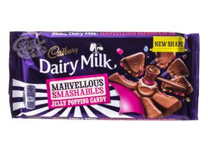 Cadbury Dairy Milk Marvellous Smashables Jelly Popping Candy Schokolade 180 g