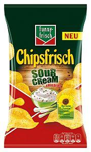 funny-frisch Chipsfrisch Sour Cream & Wild Onion 175 g