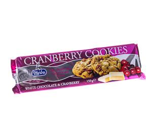 Merba White Chocolate & Cranberry Cookies 150 g