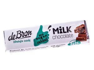 Vollmilch-Schokoladenriegel zuckerfrei von de Bron 42 g