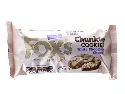 Foxs Chunkie Cookies White Chocolate Chunks 180 g