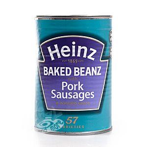 Heinz Baked Beanz with Pork Sausages 415 g