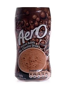 Aero Instant Bubbly Hot Chocolate Drink CHOCOLATEY v. Nestle 288 g