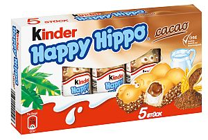 Ferrero Kinder Happy Hippo Cacao 5er Pack (103,5 g)