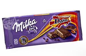 Milka & Daim Schokolade a 100 g