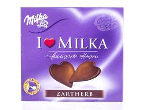 Milka I love Milka Hauchzarte Herzen Zartherb 130 g