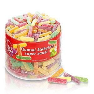 Red Band Gummi Stäbchen Super Sauer 1000 g