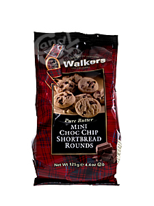 Walkers Mini Choc Chip Shortbread Rounds a 125 g